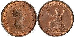 1/2 Penny Regno Unito di Gran Bretagna e Irlanda (1801-1922) Rame Giorgio III (1738-1820)