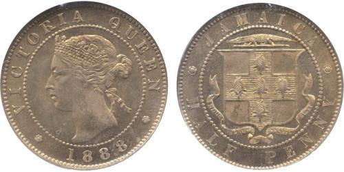 1/2 Penny Giamaica (1962 - ) Rame/Nichel Vittoria (1819 - 1901)