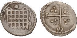 1/2 Penny Kingdom of England (927-1649,1660-1707) Silver Elizabeth I (1533-1603)