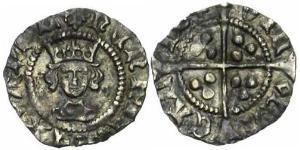 1/2 Penny Kingdom of England (927-1649,1660-1707) Silver Henry VI (1421-1471)