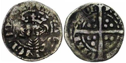 1/2 Penny Kingdom of England (927-1649,1660-1707) Silver Edward I (1239 - 1307)