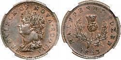 1/2 Penny Canada  George IV (1762-1830)