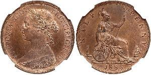 1/2 Penny United Kingdom of Great Britain and Ireland (1801-1922)  Victoria (1819 - 1901)