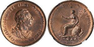 1/2 Penny Vereinigtes Königreich von Großbritannien und Irland (1801-1922)  Georg III (1738-1820)