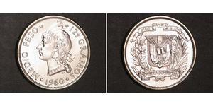 1/2 Peso República Dominicana Plata