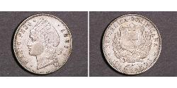 1/2 Peso Dominikanische Republik Silber