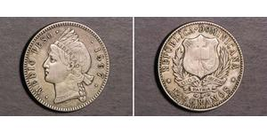 1/2 Peso Dominican Republic Silver