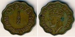 1/2 Piastre British Cyprus (1878 - 1960) Bronze