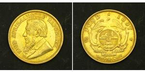 1/2 Pond South Africa 金 保罗·克留格尔 (1825 - 1904)