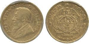 1/2 Pond South Africa Gold Paul Kruger (1825 - 1904)