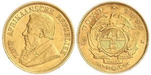 1/2 Pond Afrique du Sud Or Paul Kruger (1825 - 1904)