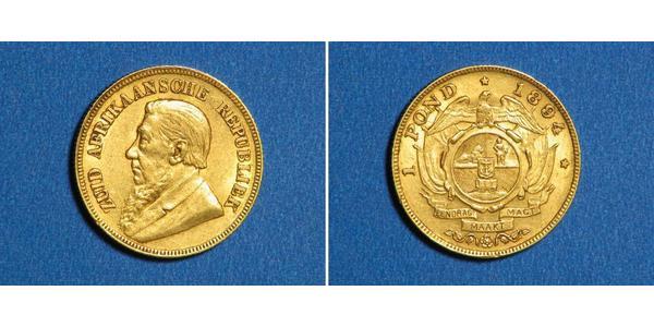 1/2 Pond Sudafrica Oro Paul Kruger (1825 - 1904)