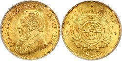 1/2 Pond / 1/2 Sovereign Südafrika Gold Paul Kruger (1825 - 1904)