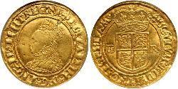 1/2 Pound 英格兰王国 金 Elizabeth I (1533-1603)