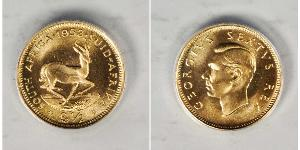 1/2 Pound South Africa Gold George VI (1895-1952)