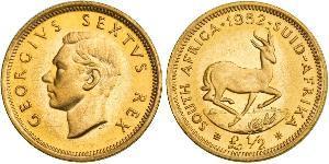 1/2 Pound Sudáfrica Oro Jorge VI (1895-1952)