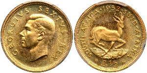 1/2 Pound Sudafrica Oro Giorgio VI (1895-1952)