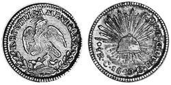 1/2 Real Second Federal Republic of Mexico (1846 - 1863) 銀