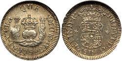 1/2 Real Perù Argento Ferdinando VI di Spagna (1713-1759)