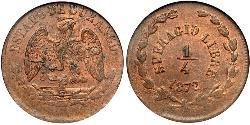 1/2 Real United Mexican States (1867 - ) Copper