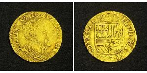 1/2 Real Habsburg Spain (1506 - 1700) Gold Philip II of Spain (1527-1598)