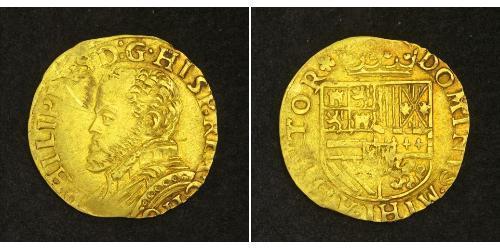 1/2 Real Habsburg Spain (1506 - 1700) Gold Philipp II. (Spanien) (1527-1598)