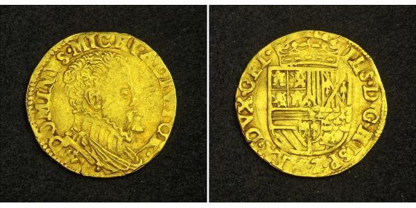 1/2 Real Habsburg Spain (1506 - 1700) Gold Philip II of Spain (1527-1598)