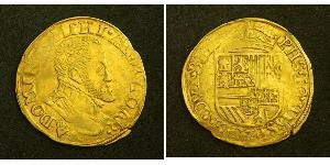 1/2 Real Habsburg Spain (1506 - 1700) Oro Felipe II de España (1527-1598)