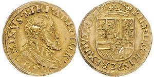 1/2 Real Spagna degli Asburgo (1506 - 1700) Oro Filippo II di Spagna (1527-1598)