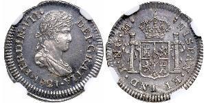 1/2 Real Guatemala Plata Fernando VII de España (1784-1833)