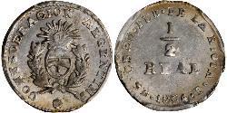 1/2 Real Argentinien Silber