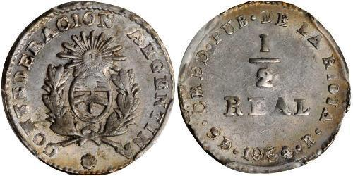 1/2 Real Argentinien Silber