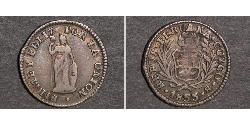 1/2 Real Peru Silber