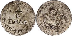 1/2 Real Argentina Silver
