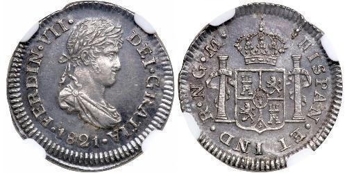 1/2 Real Guatemala Silver Ferdinand VII of Spain (1784-1833)