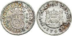 1/2 Real Spanish Mexico  / Kingdom of New Spain (1519 - 1821) Silver