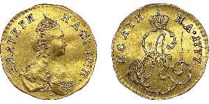 1/2 Rouble / 1 Poltina Empire russe (1720-1917) Or Catherine II (1729-1796)