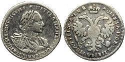 1/2 Rubel Russisches Reich (1720-1917) Silber Peter der Große(1672-1725)