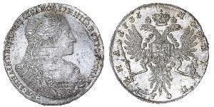 1/2 Rubel Russisches Reich (1720-1917) Silber Anna Iwanowna (1693-1740)