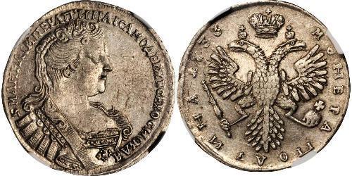 1/2 Rubel / 1 Poltina Russisches Reich (1720-1917) Silber Anna Iwanowna (1693-1740)