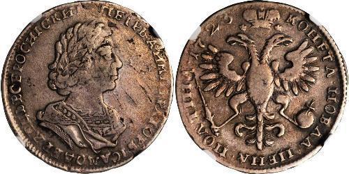 1/2 Rublo / 1 Poltina Impero russo (1720-1917) Argento Pietro I di Russia(1672-1725)
