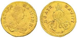 1/2 Rublo / 1 Poltina Imperio ruso (1720-1917) Oro Catalina II (1729-1796)