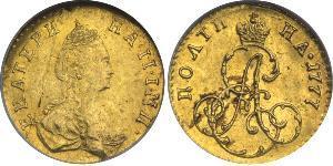 1/2 Rublo / 1 Poltina Impero russo (1720-1917) Oro Caterina II (1729-1796)