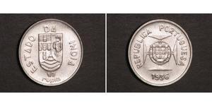 1/2 Rupee India portoghese (1510-1961) Argento