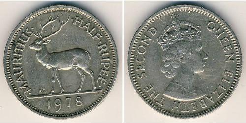 1/2 Rupee Mauritius Kupfer/Nickel