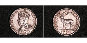 1/2 Rupee Mauritius Silber George V (1865-1936)