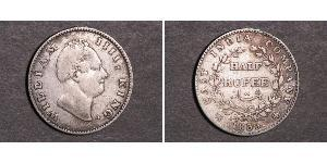 1/2 Rupee British Raj (1858-1947) Silver William IV (1765-1837)
