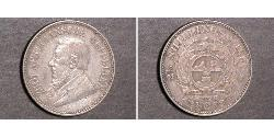 1/2 Shilling South Africa Silver Paul Kruger (1825 - 1904)