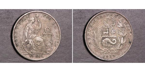 1/2 Sol Peru Silber