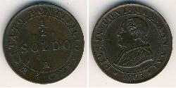 1/2 Soldo Kirchenstaat (752-1870) Kupfer Pius IX (1792- 1878)